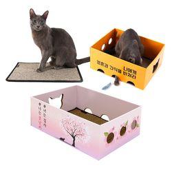 노리노리 고양이 카펫 스크래쳐박스 국내제조