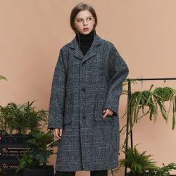 check over long coat (dark navy)