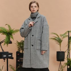 check over long coat (gray)
