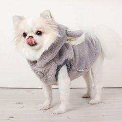강아지겨울옷 토끼보아코트