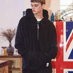 Crump fleece half zipup hoodie (CT0114)
