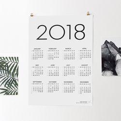 2018 심플캘린더포스터