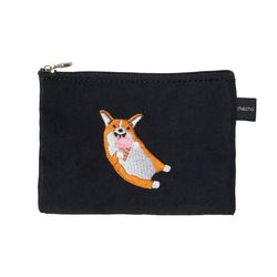 ice cream corgi card pouch