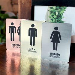 메탈사인 화장실표지판 남자여자화장실 공용화장실