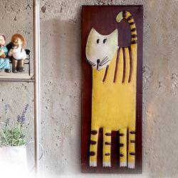 J2-2 고양이 철재 벽장식