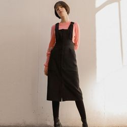 SUSPENDER DRESS (BLACK)