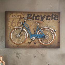 J2-15 블루 자전거 액자