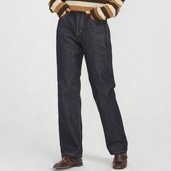 trendy wide denim pants