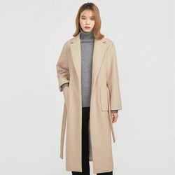 FRESH A wool long strap coat