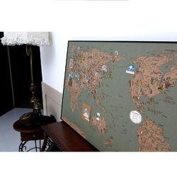 D map Vintage