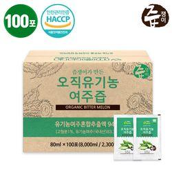 [유기가공식품인증] 즙쟁이 오직 여주즙 100포 실속구성
