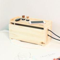 521. 하마 케이블박스 - 원목 전선 멀티탭 정리함