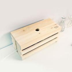 522. 프리 케이블박스 - 원목 전선 멀티탭 정리함