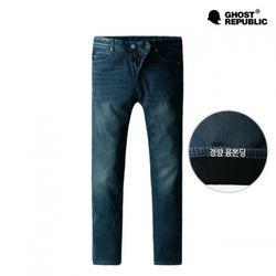 DP-7010 블루 블렌디드 본딩 데님 팬츠 (S-XL)