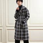 WOOL OVER ROBE COAT CHECK