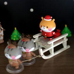 크리스마스 햄스쿠 피규어