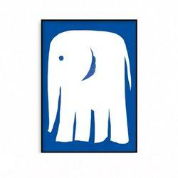 북유럽 액자 인테리어 아이방 포스터 코끼리 [중형]