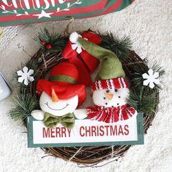 눈사람 크리스마스 리스