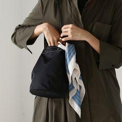 cylinder shape bag (black)
