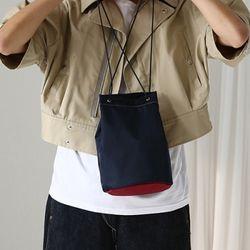 cylinder shape bag (navy)