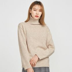 FRESH A lambswool turtle neck knit