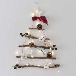 크리스마스 나뭇가지 행잉 트리 오너먼트 전구 세트