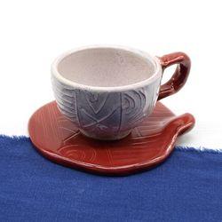 도자기 에스프레소 샷잔 커피잔 세트-체리