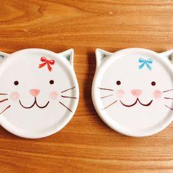 고양이 도자기 컵받침[핸드메이드]