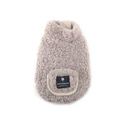 Fleece Pocket Vest Beige