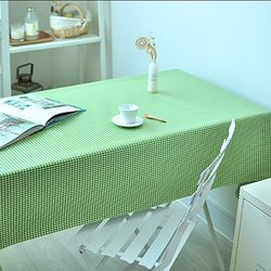 4미리체크 그린 방수식탁보(2인90cm)