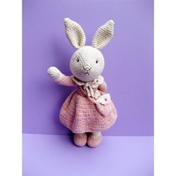 손뜨개인형 DIY-토끼야반가워