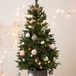 크리스마스 베이직 틴트리 90cm+파스텔 오너먼트세트