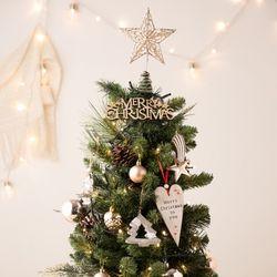 우드 크리스마스트리 DIY  패키지 75cm 샴페인