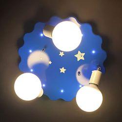 뭉게구름 3등 아이방조명 + LED전구x3