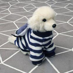 [펫딘]빅 아이 스트라이프 강아지옷 티셔츠 네이비