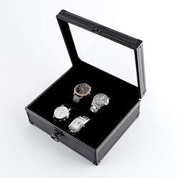 올 블랙 시크 알루미늄 시계케이스 6구