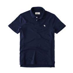 아베크롬비 로고 반팔 카라 티셔츠 0062023 네이비