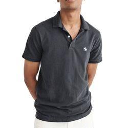 아베크롬비 로고 반팔 카라 티셔츠 0062015 진그레이
