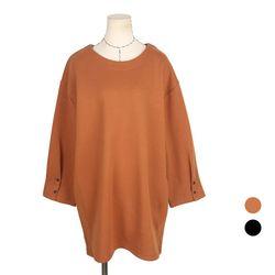 [네오쿠비카]빅사이즈 루즈핏 소매단추 티셔츠 DD171