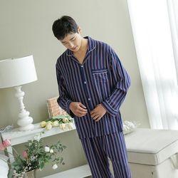 쁘띠쁘랑레드스트라이프 남성잠옷