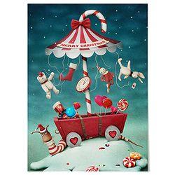패브릭 천 포스터 F148 크리스마스 캔디 [중형]
