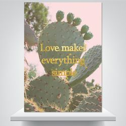 사랑하면 간단해 - 감성사진 폼보드액자(A2)