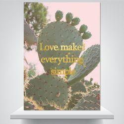 사랑하면 간단해 - 감성사진 폼보드액자(A3)