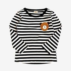 곰돌이 스트라이프 티셔츠 T168