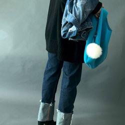 [폭스퍼키링 증정] I AM YOUR BAG Medium 딥블루
