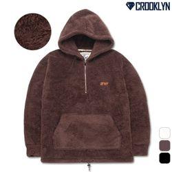 [크루클린]HRL-699BW 양털 오버핏 아노락 후드 티셔츠