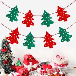 [인디고샵] 크리스마스 트리 펠트 가랜드 (1set)