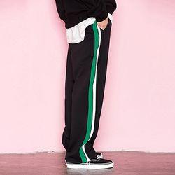 [기모발매] SIDELINE TRACK PANTS GREEN