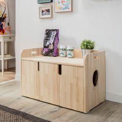 퍼피노 펫블리 원목 고양이 화장실(대) bs008