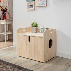 퍼피노 펫블리 원목 고양이 화장실(소) bs007